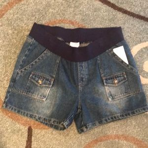 Large Belly by Design Denim Maternity Shorts NWT